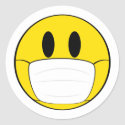 Face and Mask Classic Round Sticker