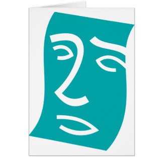 Face Art Greeting Cards