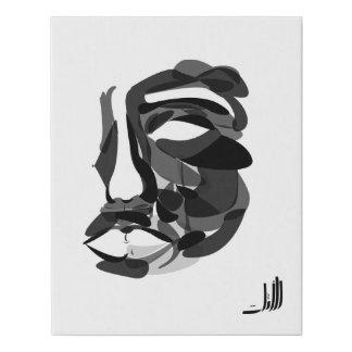 face artwork faux canvas print