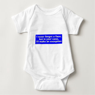 face baby bodysuit