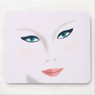 face beauty woman young skin mouse pad
