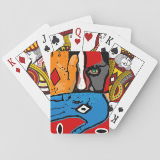 Face behind hands Playing Cards