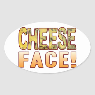 Face Blue Cheese Oval Sticker