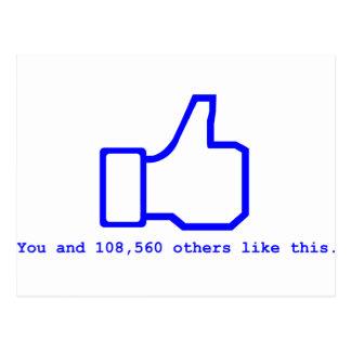 Face Book Slogan Postcard