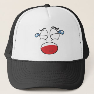Face Cap. Crying Trucker Hat