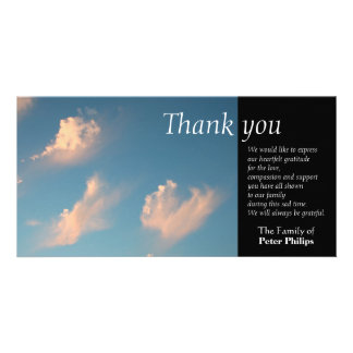 Face Cloud 1 - Sympathy Thank You Photo card