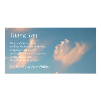 Face Cloud 2 - Sympathy Thank You Photo card