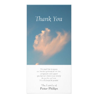 Face Cloud 3 - Sympathy Thank You Photo card