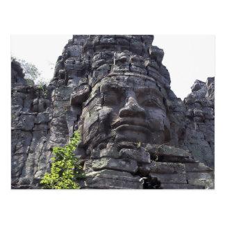 Face detail of the West Gate-Tower Gopuram), Postcard