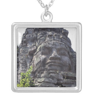 Face detail of the West Gate-Tower Gopuram), Silver Plated Necklace