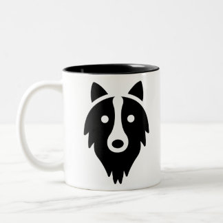 Face Dog Two-Tone Coffee Mug
