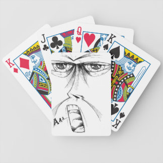 Face drawing sketch art handmade bicycle playing cards