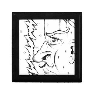 Face drawing sketch art handmade gift box