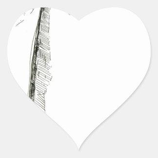 Face drawing sketch art handmade heart sticker