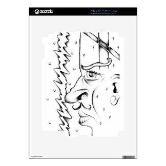 Face drawing sketch art handmade iPad 2 decals