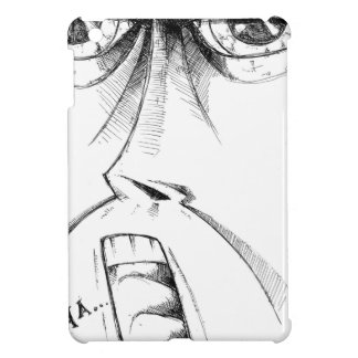 Face drawing sketch art handmade iPad mini cover