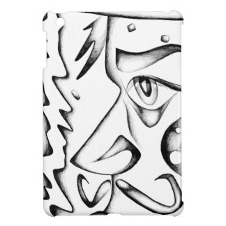 Face drawing sketch art handmade iPad mini cases