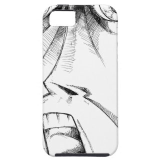 Face drawing sketch art handmade iPhone SE/5/5s case