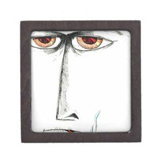 Face drawing sketch art handmade jewelry box