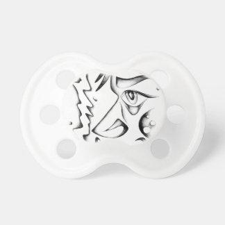 Face drawing sketch art handmade pacifier