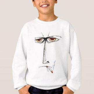 Face drawing sketch art handmade sweatshirt
