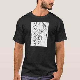 Face drawing sketch art handmade T-Shirt
