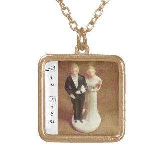 Face dreams - neck bands square pendant necklace