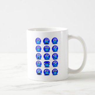 FACE_EXPRESS_Vector_Clipart funny royalblue Classic White Coffee Mug