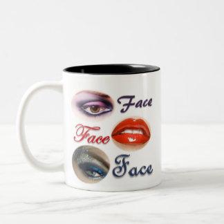 Face Face Face Two-Tone Coffee Mug