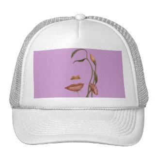 Face Flower Illusion Trucker Hat