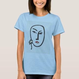 Face & Flower T-Shirt
