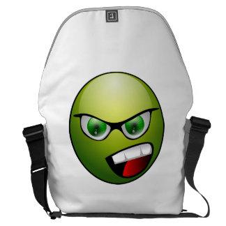 face funny messenger bag