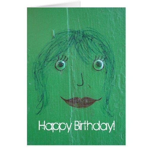 Face Graffiti, Happy Birthday! Card