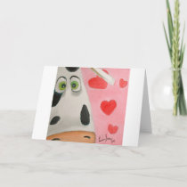 face hearts cute Valentines picture Holiday Card