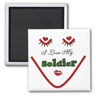 Face I love My Soldier Tshirts and Gifts Magnet