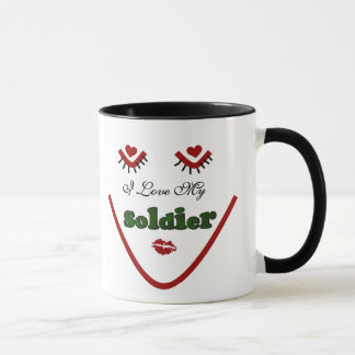 Face I love My Soldier Tshirts and Gifts Mug