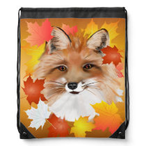 FACE in FALL-Fox eye view Drawstring Backpack
