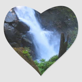 Face In The Falls Heart Sticker