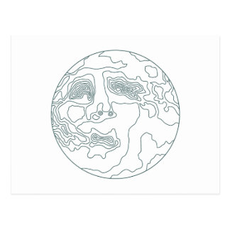 face in the moon postcard