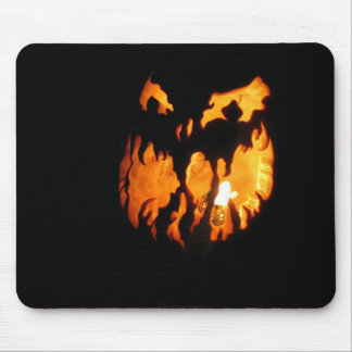 Face in the Night Mouse Pad
