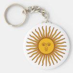 Face in the Sun - Sunshine Basic Round Button Keychain