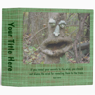 Face in the Woods Binder With Khalil Gibran Quote