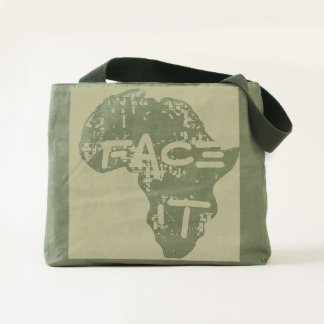 Face It African Map Design Tote