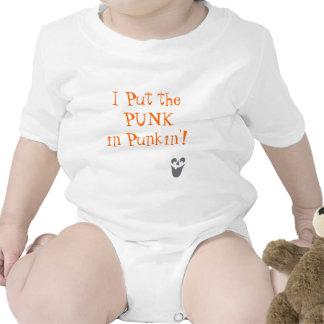 face-jackolantern, I Put the PUNK in Punkin'! Tshirt