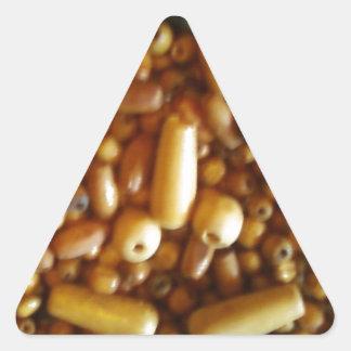 face.JPG PARECIDO A UN ABALORIO Pegatina Triangular