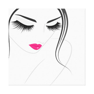 Face long lashes Lash Extension Canvas Print
