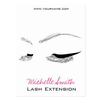 Face long lashes Lash Extension Postcard