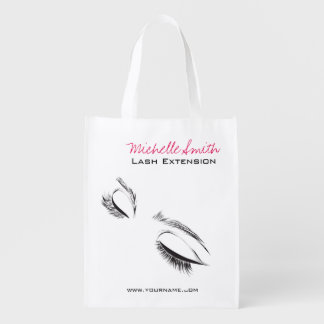 Face long lashes Lash Extension Reusable Grocery Bag