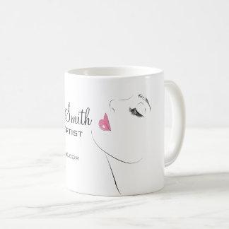 Face Long lashes Lash Extensions Pink lips Coffee Mug