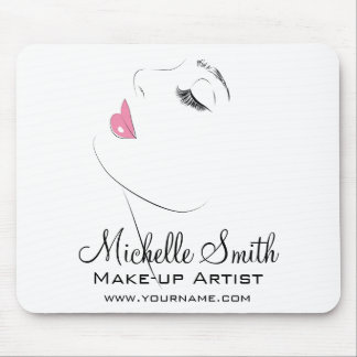 Face Long lashes Lash Extensions Pink lips Mouse Pad